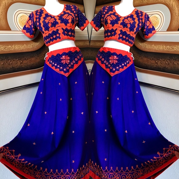 736437ea9 Handmade Dresses & Skirts - Handmade Indian Embroidered Crop Top & Skirt ...